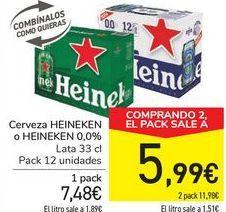 Oferta de Cerveza HEINEKEN o HEINEKEN 0,0% por 7,48€