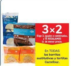 Oferta de En TODAS las barritas sustitutivas y tortitas Carrefour por