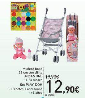 Oferta de Muñeco bebé son sillitas AIMANTINE  por 12,9€