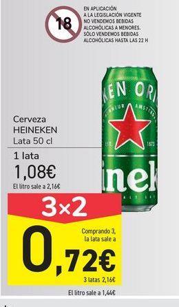 Oferta de Cerveza Heineken por 1,08€