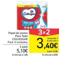 Oferta de Papel de cocina Para Todo COLHOGAR por 5,1€