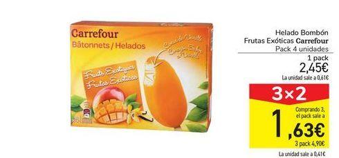 Oferta de Helado Bombón Frutas Exóticas Carrefour por 2,45€