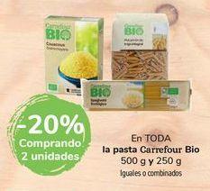 Oferta de En TODA la pasta Carrefour Bio por