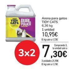 Oferta de Arena para gatos TIDY CATS  por 10,95€