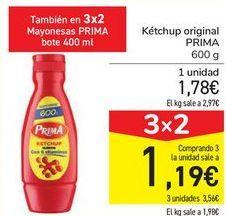 Oferta de Kétchup original PRIMA por 1,78€