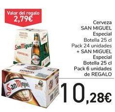 Oferta de Cerveza SAN MIGUEL Especial + SAN MIGUEL Especial de regalo  por 10,28€