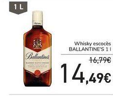 Oferta de Whisky escocés Ballantine's por 14,49€