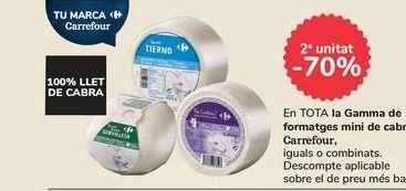 Oferta de En TODA la Gama de quesos mini de cabra Carrefour por