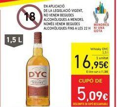 Oferta de Whisky DYC por 16,95€