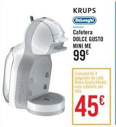 Oferta de Cafetera DOLCE GUSTO MINI ME por 99€