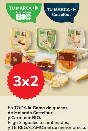 Oferta de En TODA la Gama de quesos de Holanda Carrefour y Carrefour BIO por