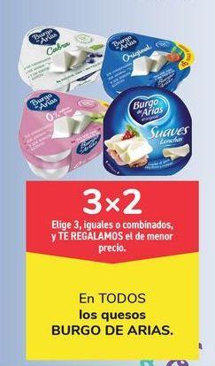 Oferta de En TODOS los quesos BURGO DE ARIAS por