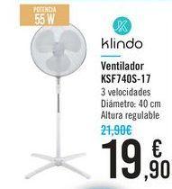 Oferta de Ventilador Klindo KSF740-17 por 19,9€