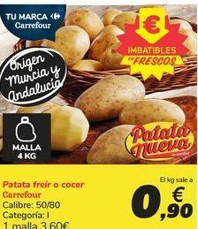 Oferta de Patata freir o cocer Carreofur por 3,6€