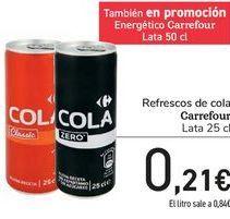Oferta de Refrescos de cola Carrefour por 0,21€