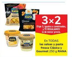 Oferta de En TODAS las salsas y pasta fresca Clásica y Gourmet RANA por