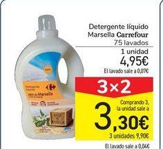 Oferta de Detergente líquido Marsella Carrefour por 4,95€