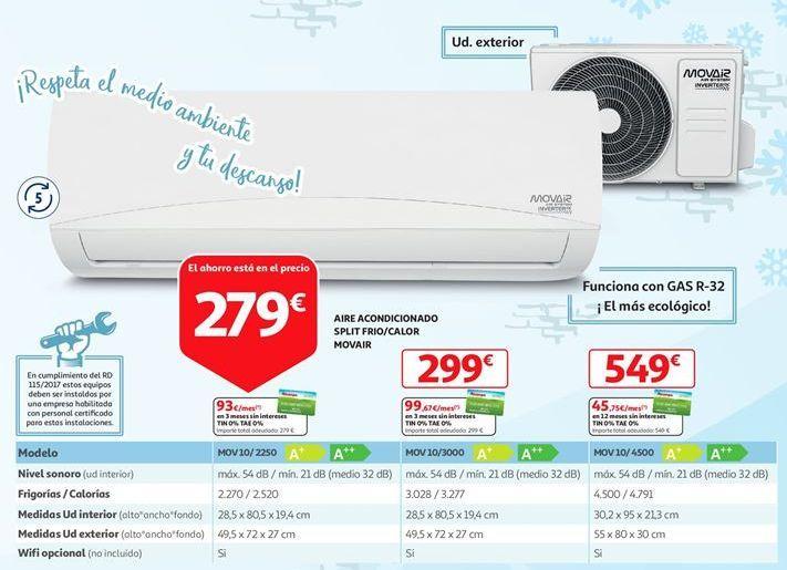 Oferta de Aire acondicionado Movair por 279€