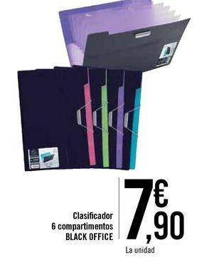 Oferta de Clasificador 6 compartimientos BLACK OFFICE  por 7,9€