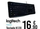 Oferta de Teclado K120 Logitech  por 16,9€
