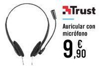 Oferta de Auricular con micrófono Trust  por 9,9€