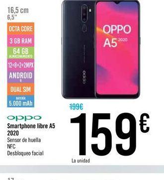 Oferta de Smartphones libre A5 por 159€