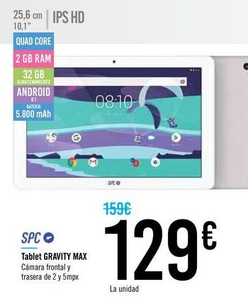 Oferta de Tablet SPC por 129€