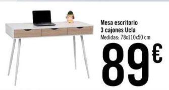 Oferta de Mesa escritorio 3 cajones Ucla por 89€