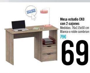 Oferta de Mesa estudio EKO con dos cajones por 69€