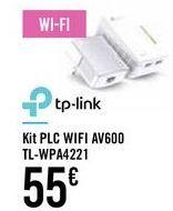 Oferta de Kit PLC WIFI AV600 TL-WPA4221 por 55€