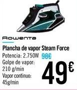 Oferta de Plancha de vapor Steam Force por 49€
