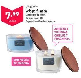 Oferta de Vela Perfumada Living Art por 7,99€