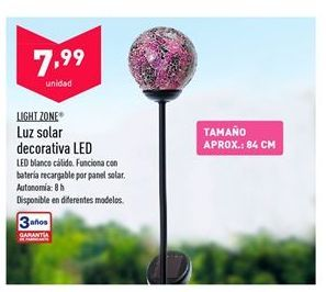 Oferta de Luz Solar Decorativa LED LIGHT ZONE por 7,99€