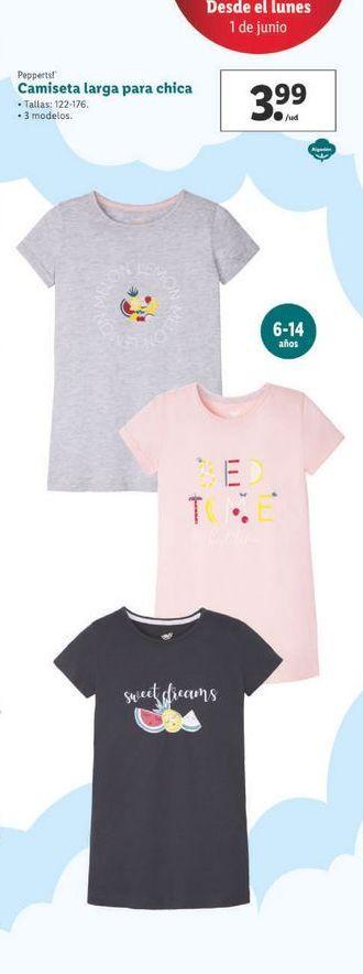 Oferta de Camiseta larga para chica Pepperts por 3,99€