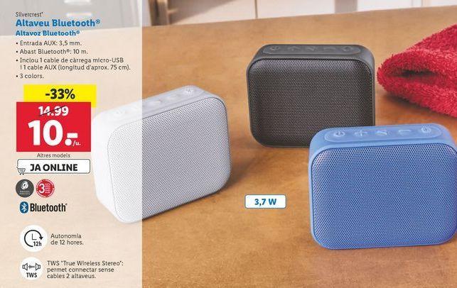 Oferta Altavoz Bluetooth Silvercrest Lidl