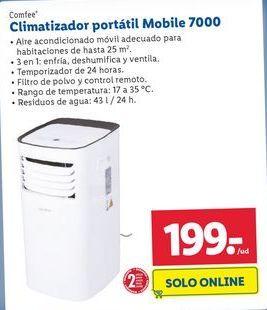 Oferta Climatizador portátil Mobile 7000 Comfee Lidl