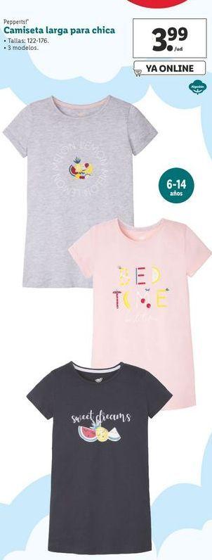 Oferta de Camiseta larga para chica Pepperts! por 3,99€
