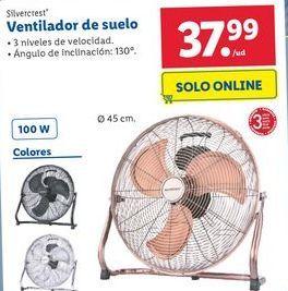 Oferta de Ventilador de suelo Silvercrest por 37,99€