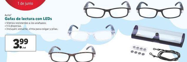 Oferta de Gafas de lectura con LED Auriol  por 3,99€