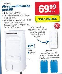 Oferta de Aire acondicionado portátil SilverCrest por 69,99€