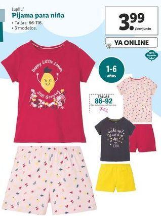 Oferta de Pijama para niña Lupilu por 3,99€
