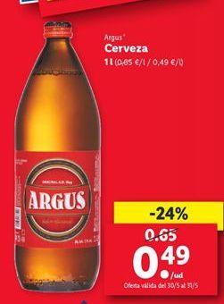 Oferta de Cerveza Argus  por 0,49€