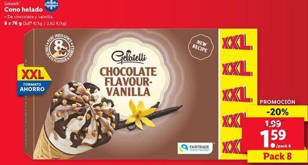 Oferta de Cono helado Gelatelli  por 1,59€