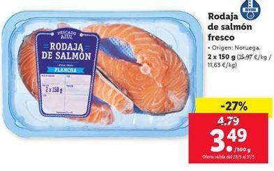 Oferta Rodaja de salmón fresco Lidl