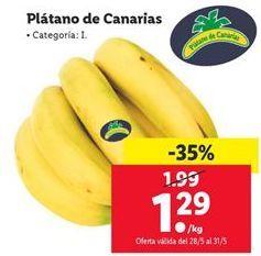 Oferta Plátano de Canarias Lidl