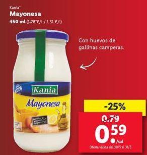 Oferta de Mayonesa Kania  por 0,59€