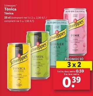 Oferta de Tónica Schweppes  por 0,39€