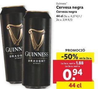 Oferta de Cerveza negra Guinness por 0,94€
