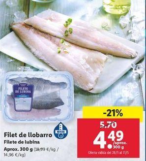 Oferta de Filete de lubina por 4,49€