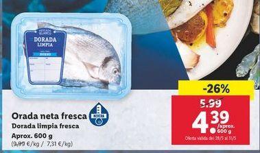 Oferta de Dorada limpia fresca por 4,39€
